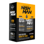 Комплект топик и жидкий лак Nishman Keratin Dark Brown